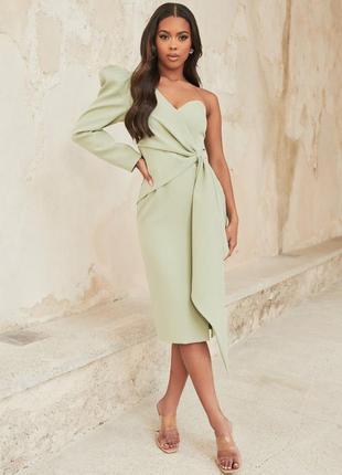 Распродажа дорогое брендовое платье lavish alice миди с открытым плечом asos