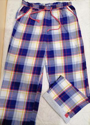 Хлопковые пижамные штаны  клетка , штаны для дома, одежда для дома и сна