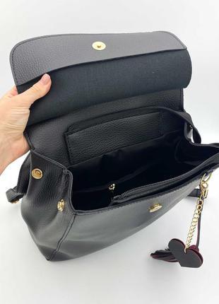 Рюкзак черный женский трансформер через плечо городской молодежная сумка рюкзак4 фото