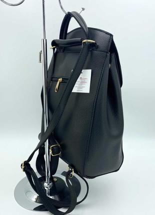 Рюкзак черный женский трансформер через плечо городской молодежная сумка рюкзак2 фото