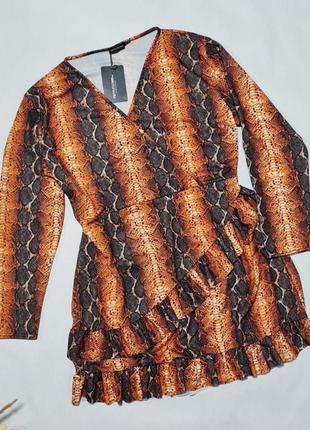 💜невероятное платье оригинального модного фасона с имитацией запаха. ткань хорошо тянется 💜