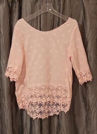 🤗туника блуза пудровая