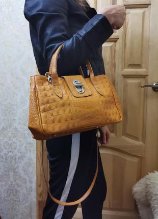 Женская кожаная сумка kaleidoscope (италия)