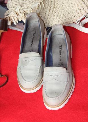 Замшевые туфли лоферы tamaris
