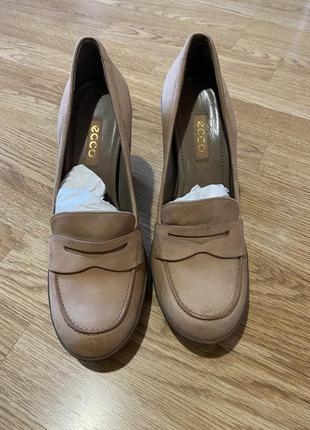 Туфли лоферы ecco