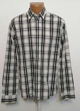 Рубашка levi strauss, 100% хлопок, l, в отличном сост.!