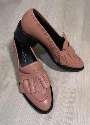 Next лоферы натуральная кожа, кожаные туфли