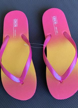 В'єтнамки яскраві, пляжне взуття, вьетнамки, шлепанцы, рожеві, розовые.