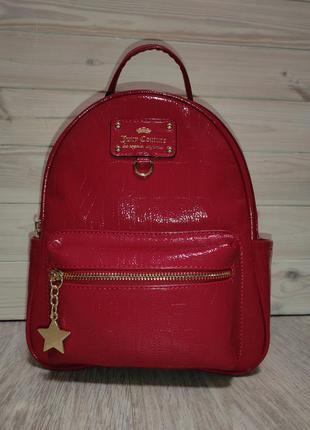 Лакированный рюкзак миди juicy couture