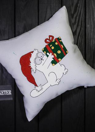 """""""подарки от кота саймона"""". декоративная подушка ручной работы"""