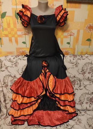 Карнавальное платье испанки итальянки размер s 36