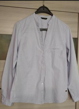 ❤️рубашка блузка блуза оригинал massimo dutti полоска бело-голубая длинный рукав