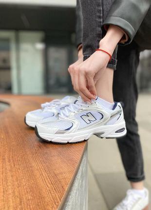 Хит продаж женские кроссовки new balance 530 silver наложка