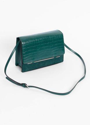 Шикарная изумрудная сумка orsay! отменное люкс качество!