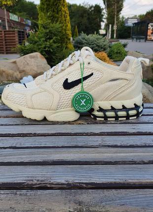 Nike air stussy кроссовки текстильные мягкие