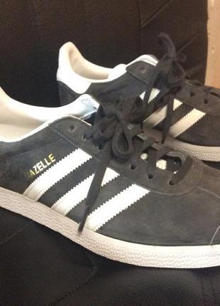 Оригинал адидас газель графит серый adidas gazelle grey original 25 см