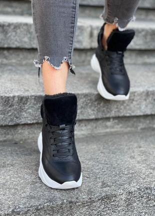 Кожаные спортивные кроссовки 34-41
