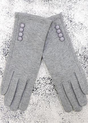 """Женские перчатки """"4bts"""" сетло-серые"""