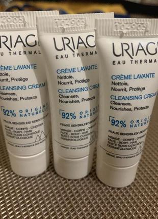 Очищающий крем uriage lavante nourishing and cleansing cream new texture
