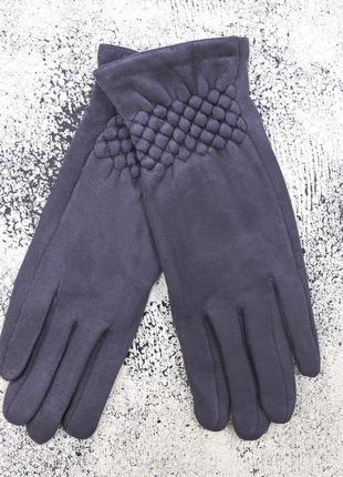 """Женские перчатки """"rhomb"""" серые"""