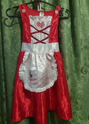 Платье к новогоднему костюму