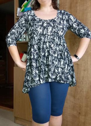 Платье туника ассиметричное большого размера f&f