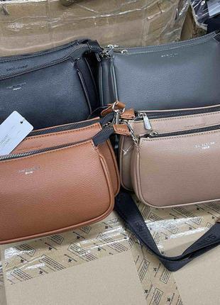 Две по цене одной стильная женская сумка кроссбоди david jones #6269