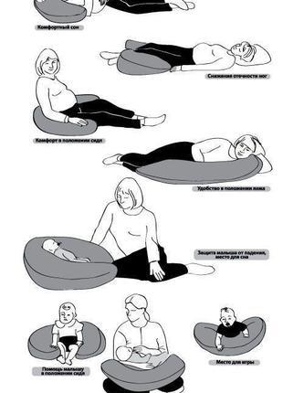 Многофункциональная подушка для беременных, кормления грудью