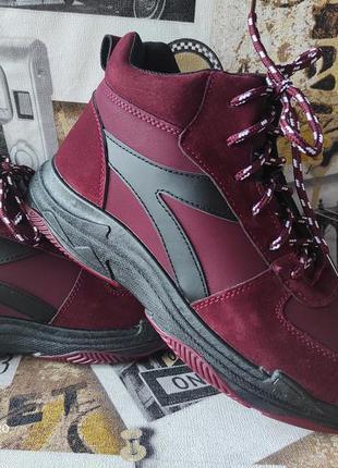 Мужские зимние высокие кроссовки