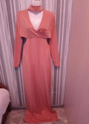 🌺 🌿 🍃 вечернее платье в пол на высокую девушку р.46-48🍃🌿🌺
