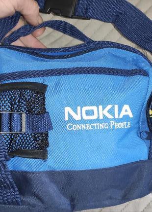 Стильная фирменная сумка на пояс бананка.nokia