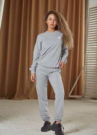 Костюм спортивный серый свитшот и штаны
