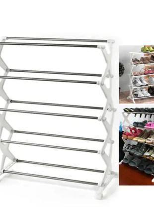 Органайзер полка для обуви стойка складная подставка для хранения взуття полиця shoe rack стеллаж на 5 полок