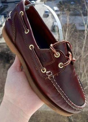 Кожаные туфли, топсайдеры, мокасины timberland classic boat. в отличном состоянии. оригинал