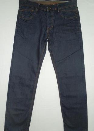 Джинсы мужские прямые темно синие размер w32 l30