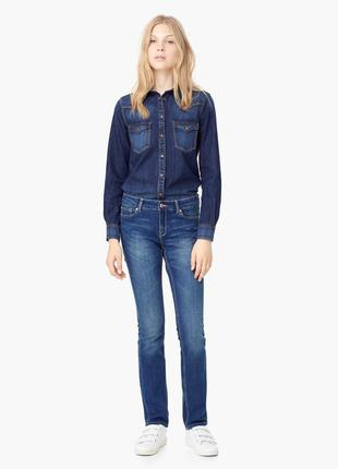 Стильные прямые джинсы от mango, бедра 89-93 см, испания, оригинал