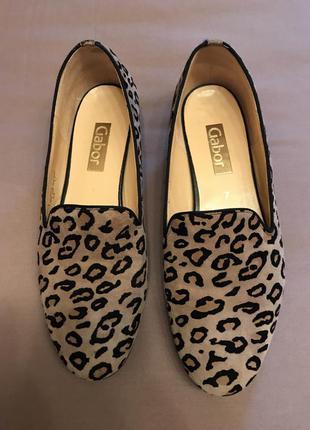 Gabor. стильные туфли балетки из натуральной кожи р 40 стелька 26 см .
