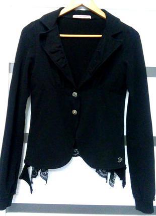 Пиджак fornarina, с рюшами на спинке