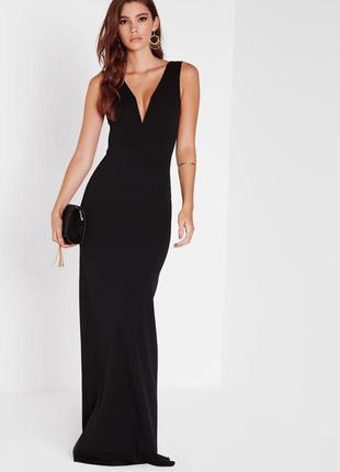 Макси платье с открытой спинкой