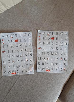 Набор стикеров клеющихся английский алфавит 2 листа 11×20
