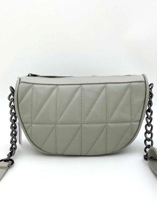 Женская сумка клатч полукруглая aliri-20724 серого цвета