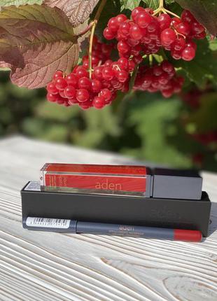 Матова помада aden granberry