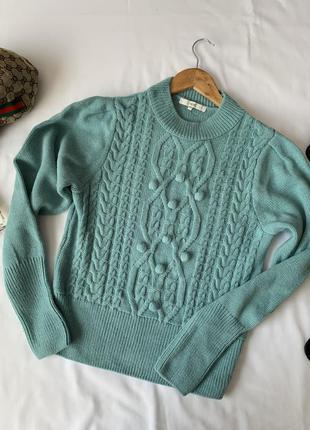 Красивый мятный свитер next р.10