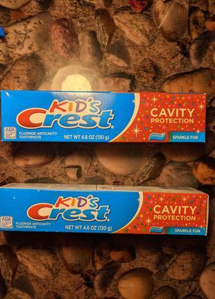 Зубная паста, крест, crest, детская зубная паста