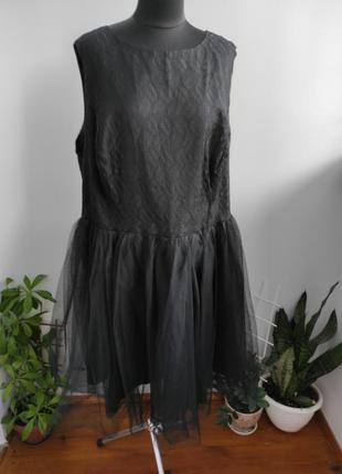 Шикарное платье с фатиновой юбкой 26 р от asos