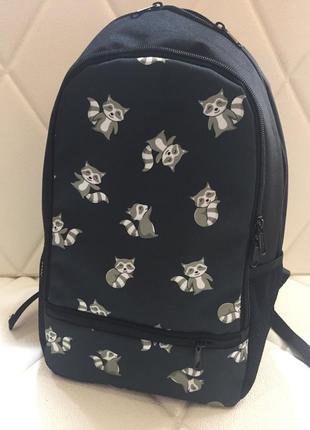 Школьный городской рюкзак с енотиками