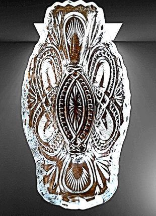 Потрясающая хрустальная ваза ладья, конфетница, салатница конца 70-х, чехословакия