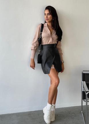 Стильный костюм  рубашка и юбка