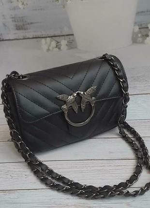 Женская стенаная сумка италия кожа