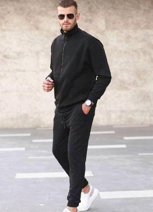 Спортивный мужской костюм с начесом демисезонный весна-осень-зима повседневный турция. 3 цвета